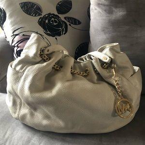 Michael Kors Beige Leather Shoulder Bag